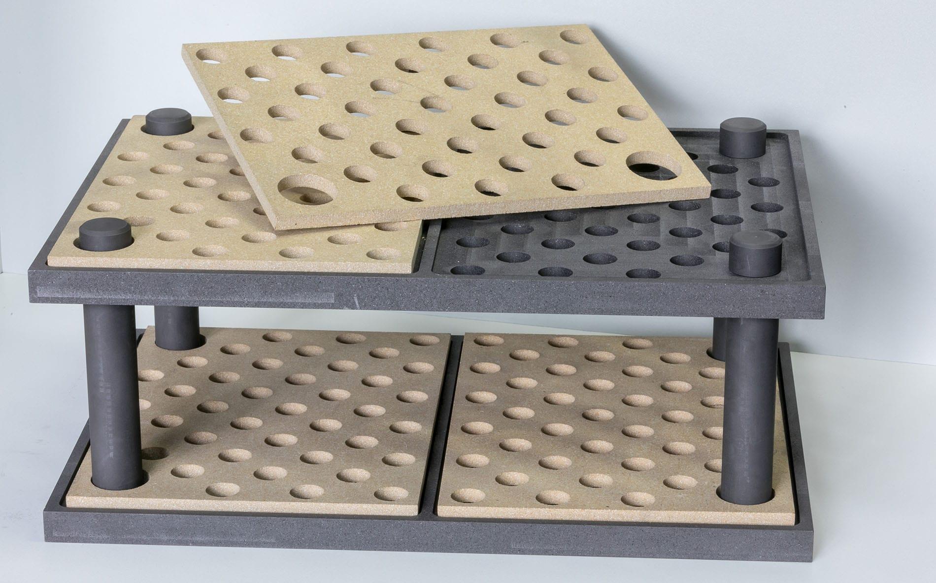 Carbonline Presse zwei Lagen Sieb Chargiertechnik